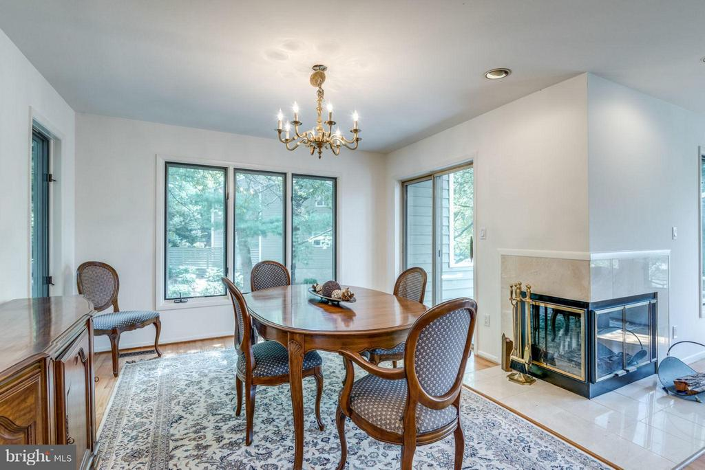 Dining Room with fireplace - 1942 LAKEPORT WAY, RESTON