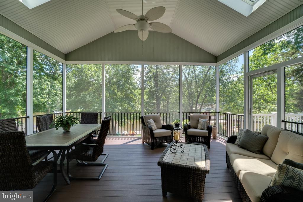 ANOTHER VIEW OF SCREENED IN PORCH - 102 HARRISON CIR, LOCUST GROVE
