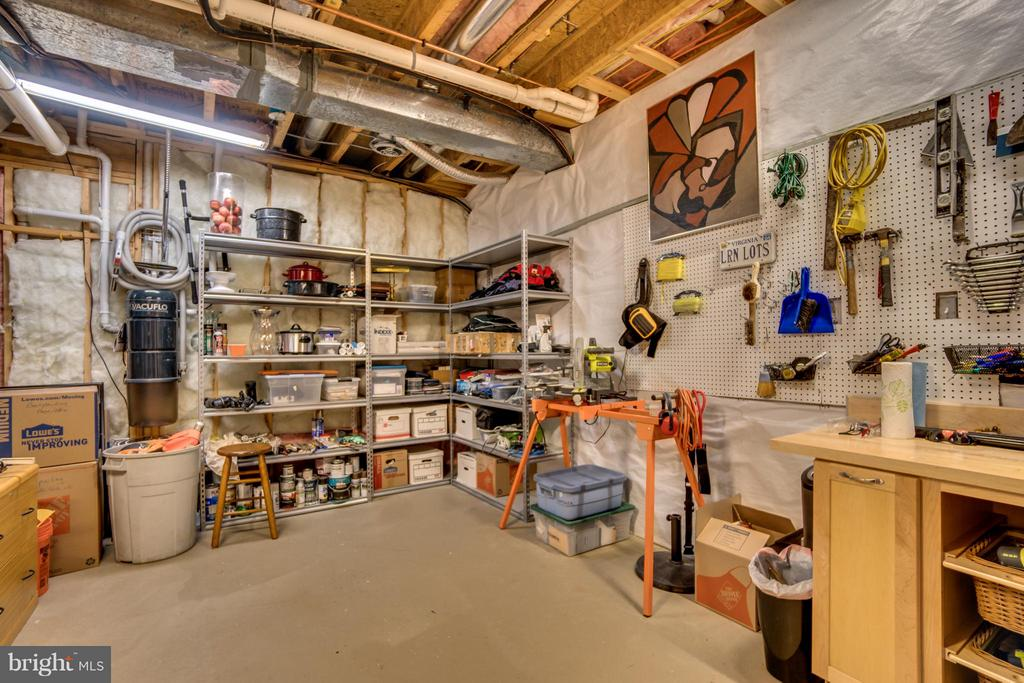 LOWER LEVEL STORAGE AREA/WORK ROOM - 102 HARRISON CIR, LOCUST GROVE