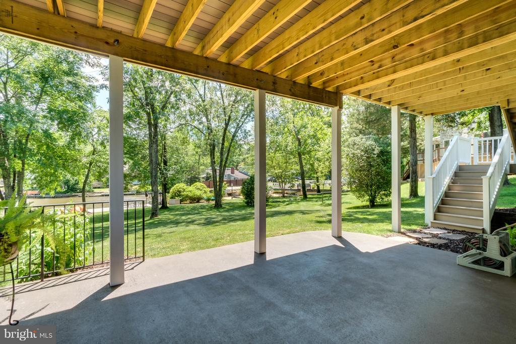 PATIO FROM LOWER LEVEL REC ROOM - 102 HARRISON CIR, LOCUST GROVE