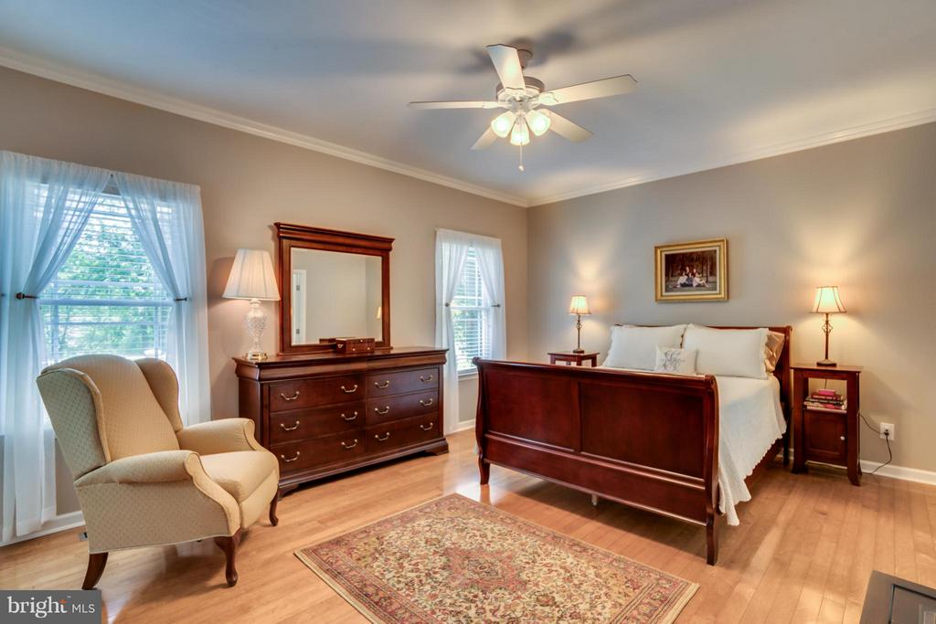 MASTER BEDROOM HAS VIEW OF LAKE AND OPENS TO PORCH - 102 HARRISON CIR, LOCUST GROVE