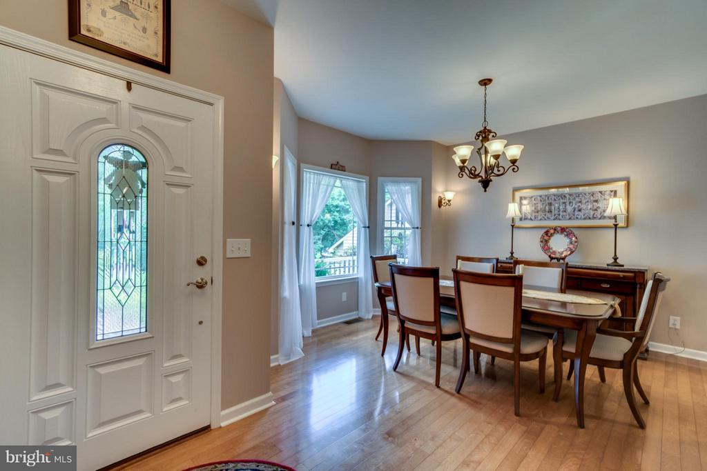 SEPARATE DINING ROOM  WITH BAY WINDOW - 102 HARRISON CIR, LOCUST GROVE