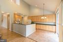 Kitchen with ceramic tile flooring - 12165 EDDYSTONE CT, WOODBRIDGE