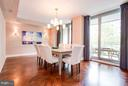 Dining Room with Balcony Access - 1111 23RD ST NW #2B, WASHINGTON