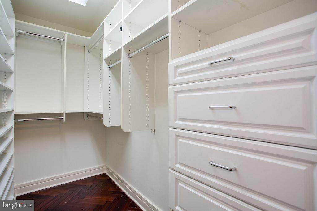 walk in closet in master bedroom - 1111 23RD ST NW #2B, WASHINGTON