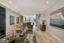 Open Living Room and Dining Room - 1777 T ST NW #PH5, WASHINGTON