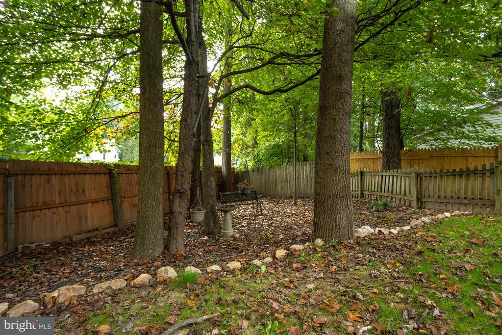 Back Yard View - 9503 YAWL CT, BURKE