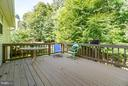 Large Deck surrounded by trees offer privacy - 53 DOROTHY LN, STAFFORD