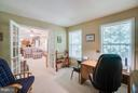 Private office through French Doors from Family Rm - 53 DOROTHY LN, STAFFORD