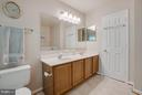 Double vanities in MBath w/ Dura-Ceramic Tile - 53 DOROTHY LN, STAFFORD