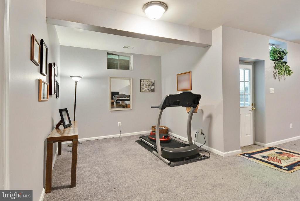 Exercise Area with exit to area way - 10106 DECKHAND DR, BURKE