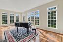 Family room - surrounded by windows! - 27429 BRIDLE PL, CHANTILLY