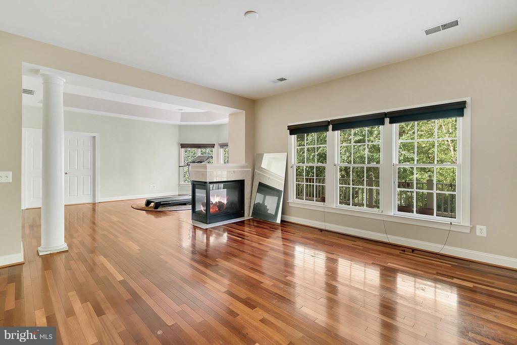 Master BR with FP and Hardwood floors - 27429 BRIDLE PL, CHANTILLY