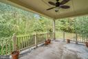 Private deck off of Master Bedroom - 27429 BRIDLE PL, CHANTILLY