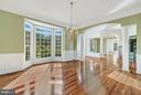 Large dining room off of the kitchen - 27429 BRIDLE PL, CHANTILLY