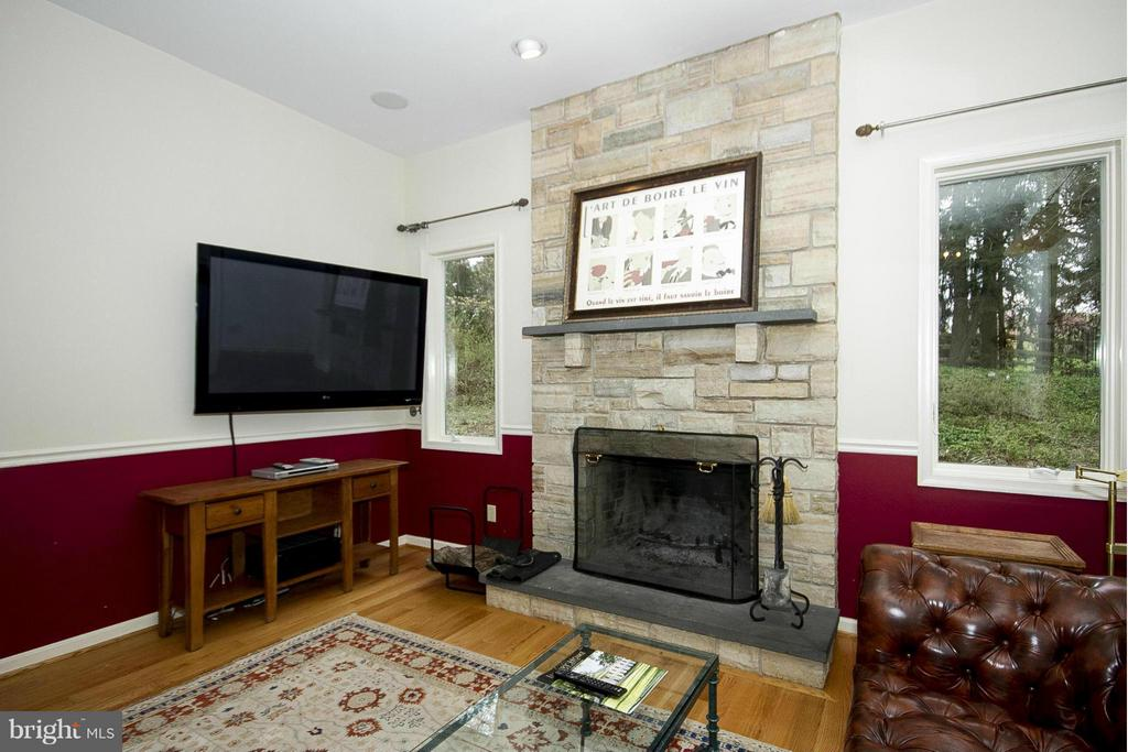 Stone fireplace in bar room - 1023 WAGNER RD, TOWSON