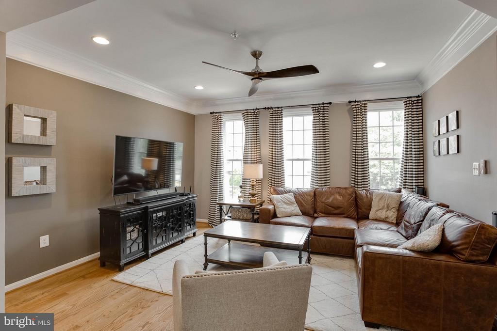 Family Room with Impressive Molding - 3001 FALLSWOOD GLEN CT, FALLS CHURCH