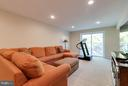 Walk-out recreation room - 9879 HEMLOCK HILLS CT, MANASSAS