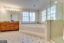 Separate frameless shower - 9879 HEMLOCK HILLS CT, MANASSAS