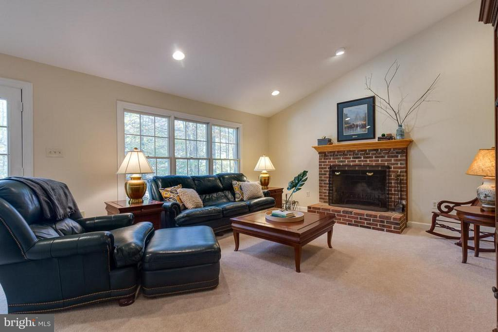 Soaring ceilings in the family room - 9879 HEMLOCK HILLS CT, MANASSAS