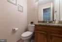 Main level updated powder room - 9879 HEMLOCK HILLS CT, MANASSAS