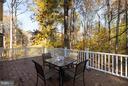 Composite deck overlooking woods - 9879 HEMLOCK HILLS CT, MANASSAS