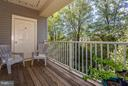 Large deck offers serene outdoor space - 11314 WESTBROOK MILL LN #303, FAIRFAX