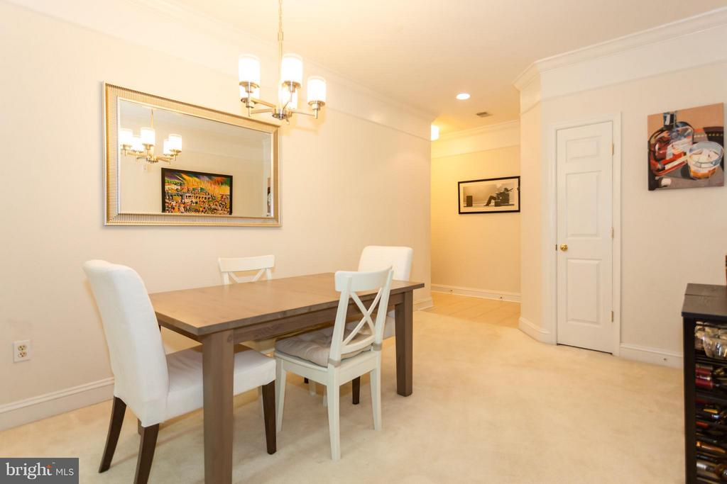 Spacious dining room allows for table and more - 11314 WESTBROOK MILL LN #303, FAIRFAX