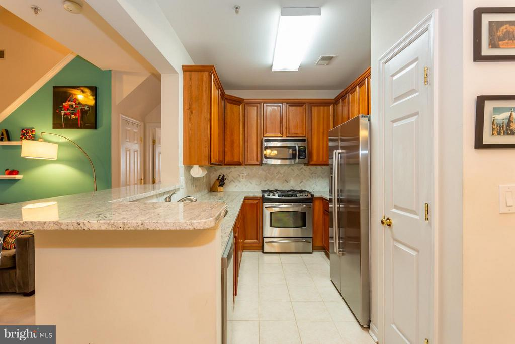 Remodeled kitchen has top-of-line features - 11314 WESTBROOK MILL LN #303, FAIRFAX