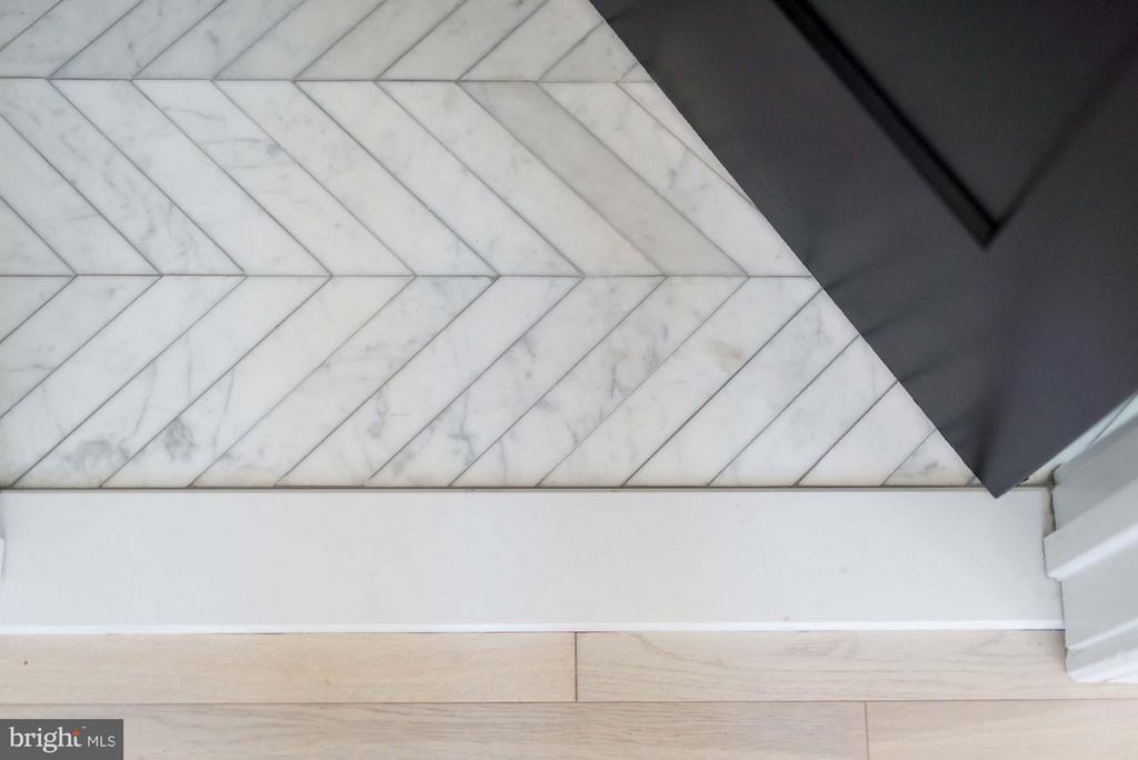 Chevron Carrara Marble Floors - 727 EUCLID ST NW #B, WASHINGTON