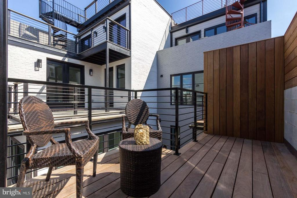 Multiple Private Outdoor Spaces - 727 EUCLID ST NW #B, WASHINGTON
