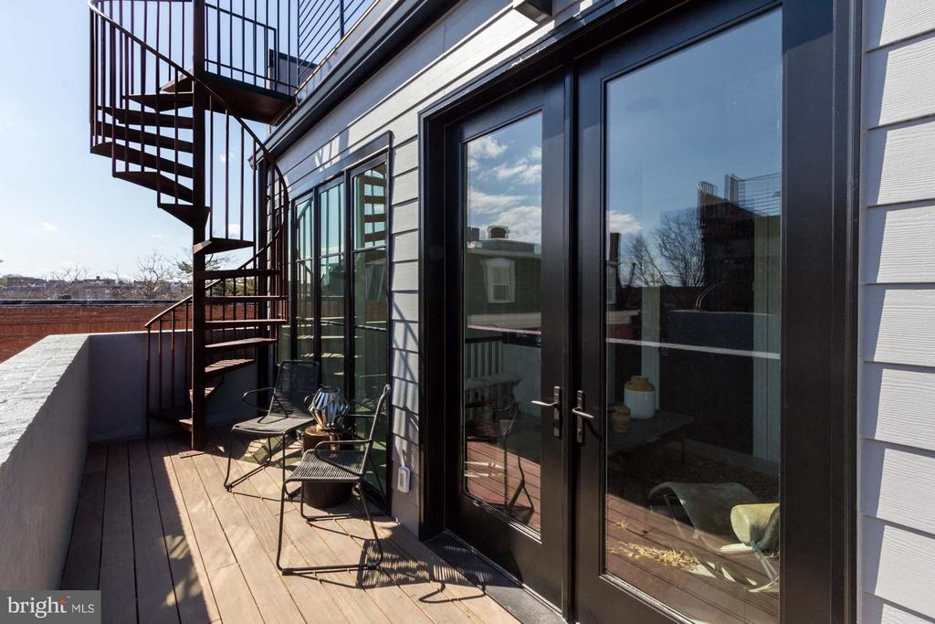 Another Outdoor Space Culminating in Roof Terrace - 727 EUCLID ST NW #B, WASHINGTON
