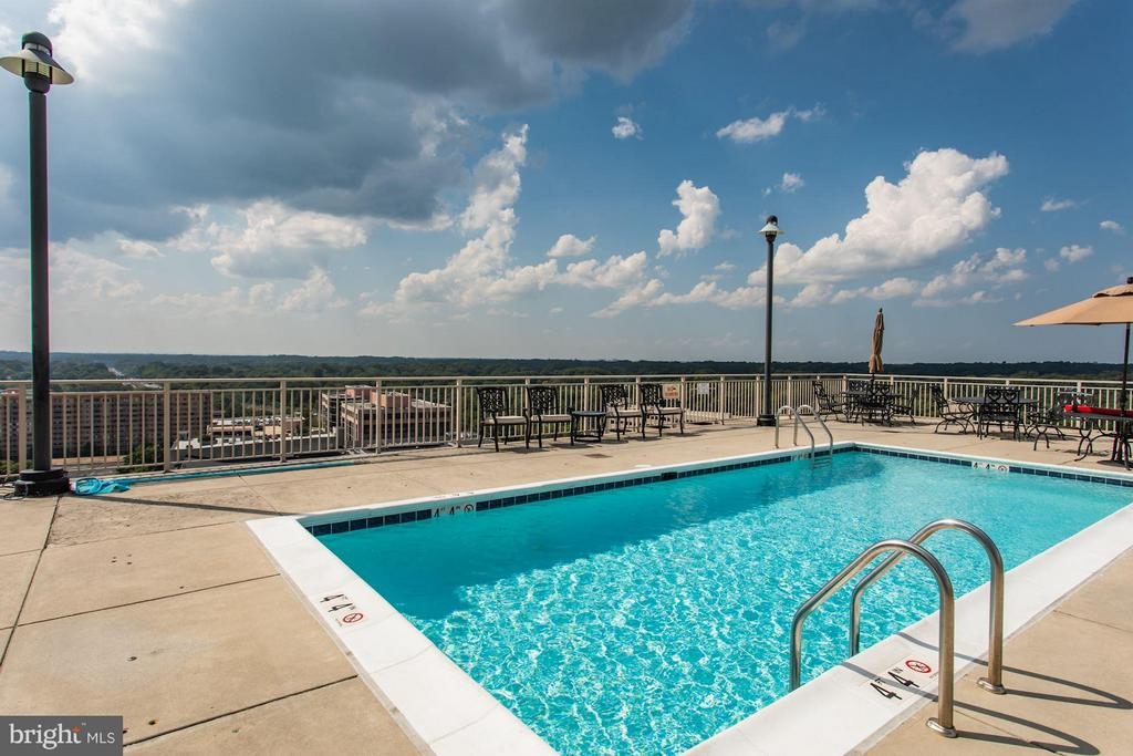 Community Rooftop Pool - 2726 GALLOWS RD #113, VIENNA