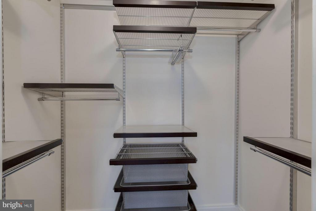 One of two custom walk-in closets - 1115 CAMERON ST #305, ALEXANDRIA