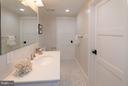 Basement bathroom very spacious - 642 COLUMBIA RD NW, WASHINGTON