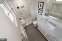 Marble shower with bench - 642 COLUMBIA RD NW, WASHINGTON