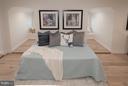 Bedroom with view of window seats - 642 COLUMBIA RD NW, WASHINGTON