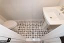 Half bath on first floor - 642 COLUMBIA RD NW, WASHINGTON