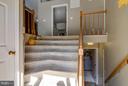Fanned stairway at foyer - 24 BRENTWOOD LN, FREDERICKSBURG