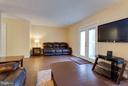 Spacious living room w/ French doors to backyard. - 9094 FLORIN WAY, UPPER MARLBORO