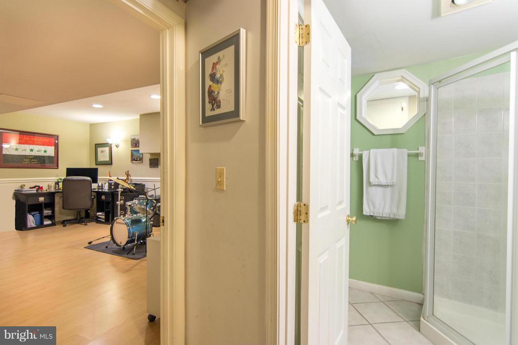 Finished lower level with full bathroom - 1020 STONINGTON DR, ARNOLD