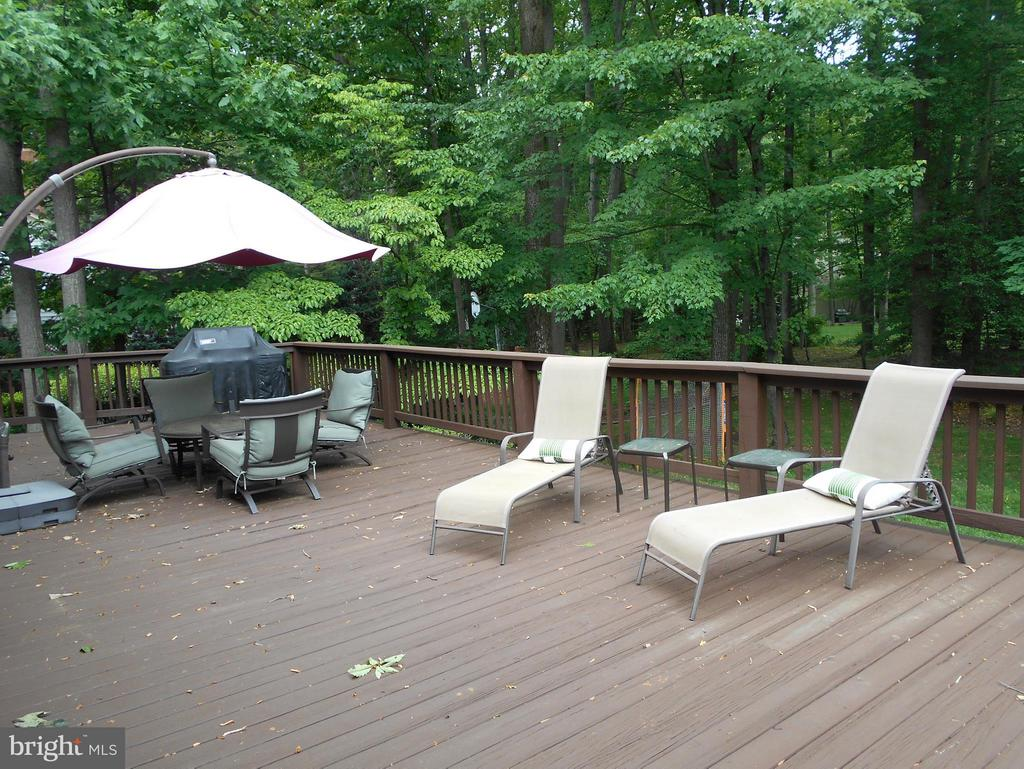 Deck wraps around family room and kitchen area - 1020 STONINGTON DR, ARNOLD