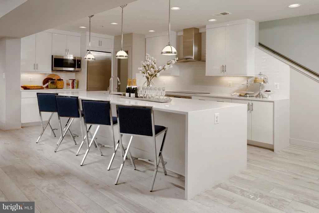 Incredible, urban kitchen w. huge island. - 322 ADOLF CLUSS CT SE #N, WASHINGTON
