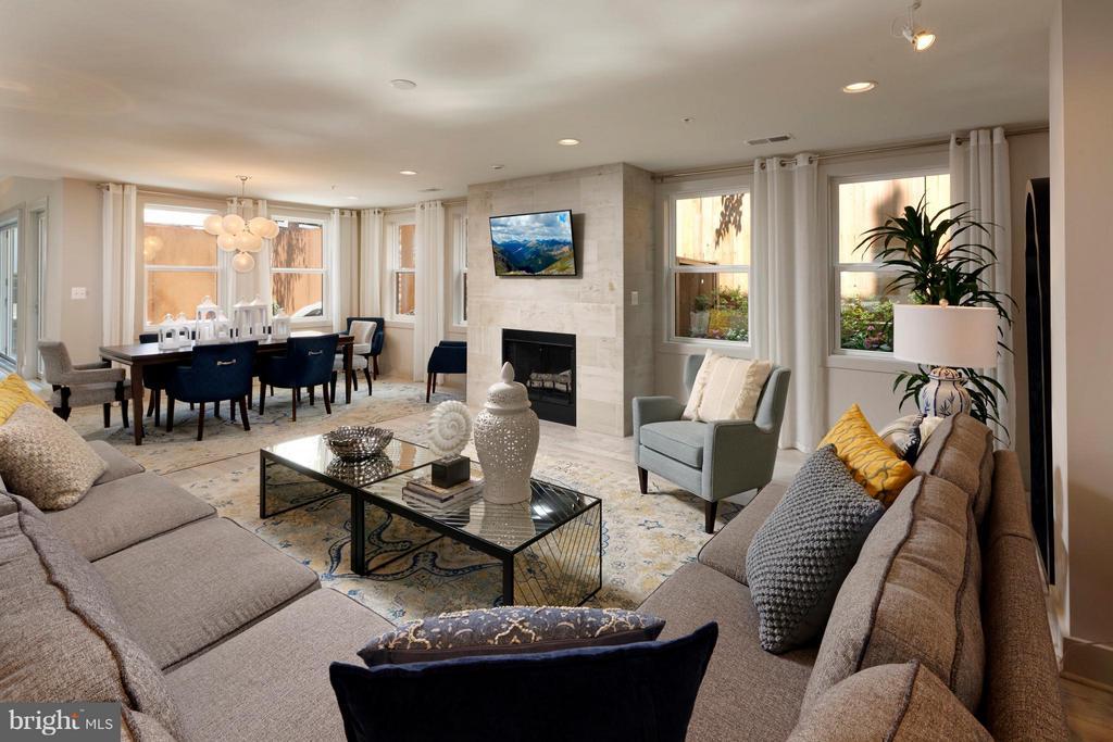 Great Room w fireplace and garden views. - 322 ADOLF CLUSS CT SE #N, WASHINGTON