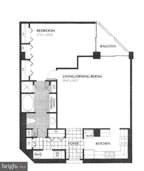 Floor Plan - 1530 KEY BLVD #527, ARLINGTON
