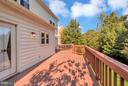 Huge deck with two entrance points - 5807 WESTCHESTER ST, ALEXANDRIA