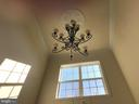 Foyer Chandelier with power lift for ease of care. - 6 SCARLET FLAX CT, STAFFORD
