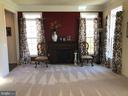 Formal Living Room with Electric Fireplace. - 6 SCARLET FLAX CT, STAFFORD