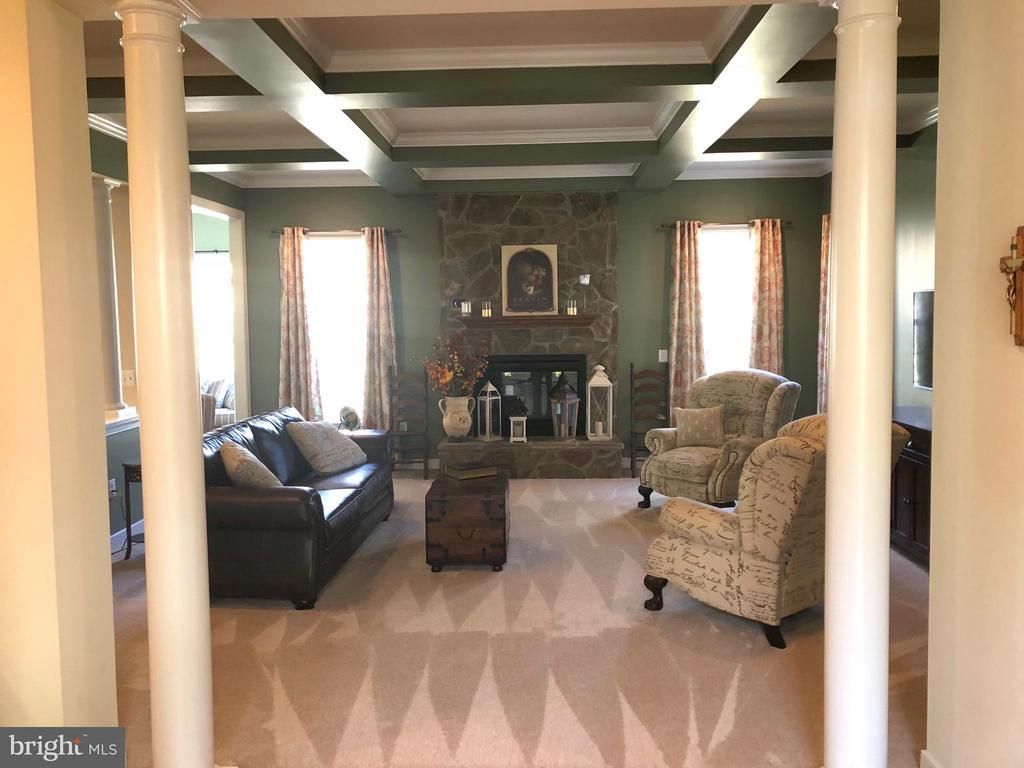 Family Room with gas fireplace. - 6 SCARLET FLAX CT, STAFFORD