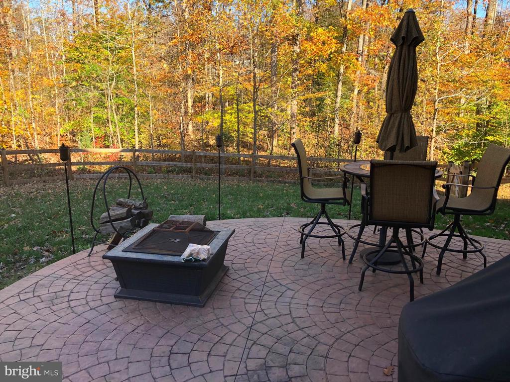 Stamped patio for family outdoor enjoyment. - 6 SCARLET FLAX CT, STAFFORD
